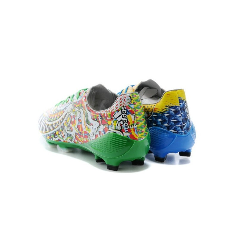 Nouveau Chaussures de Foot Adidas Adizero F50 TRX FG Yamamoto Bleu Vert