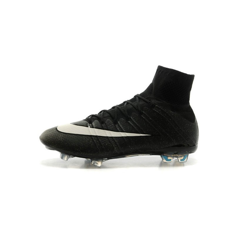 nouveau chaussures de football nike mercurial superfly 4 fg cr noir blanc turquoise. Black Bedroom Furniture Sets. Home Design Ideas