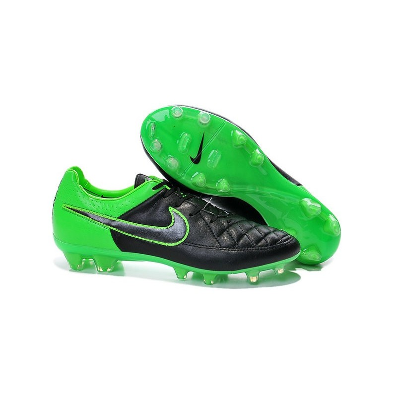 2014 2015 chaussures football nike tiempo legend v fg noir vert. Black Bedroom Furniture Sets. Home Design Ideas