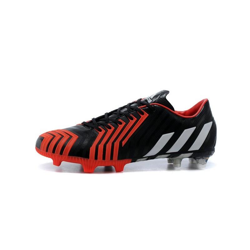 Nouveau Crampons de Football Adidas Predator Instinct FG Noir Blanc Rouge