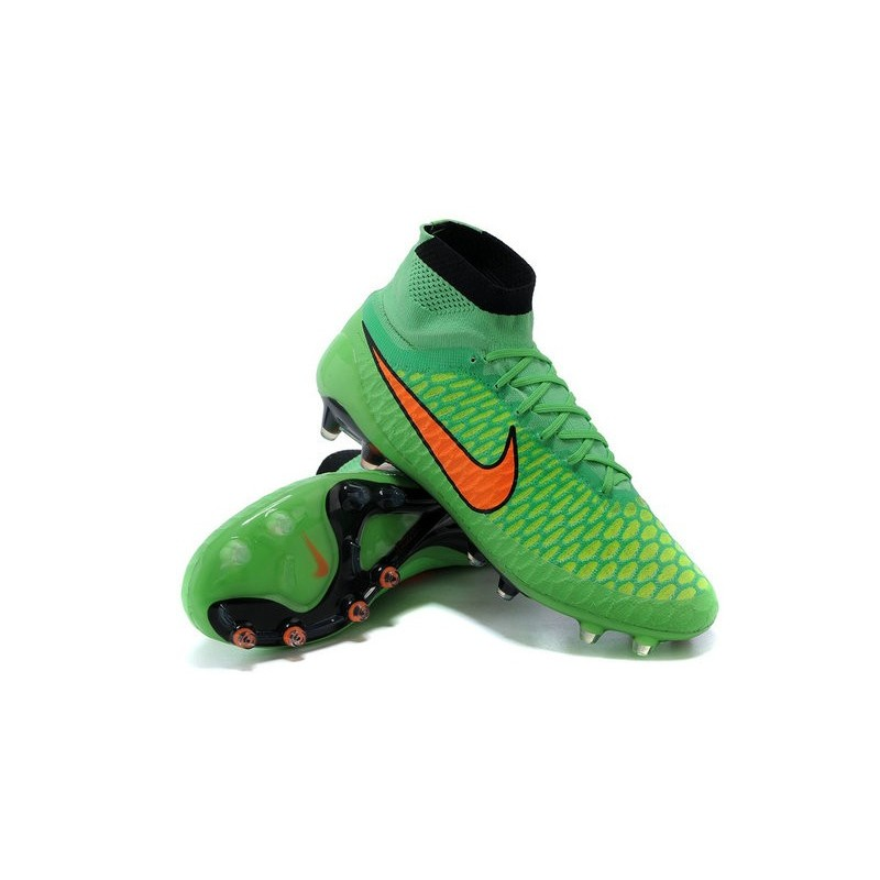 nouvelle crampons nike magista obra fg hommes vert orange noir. Black Bedroom Furniture Sets. Home Design Ideas