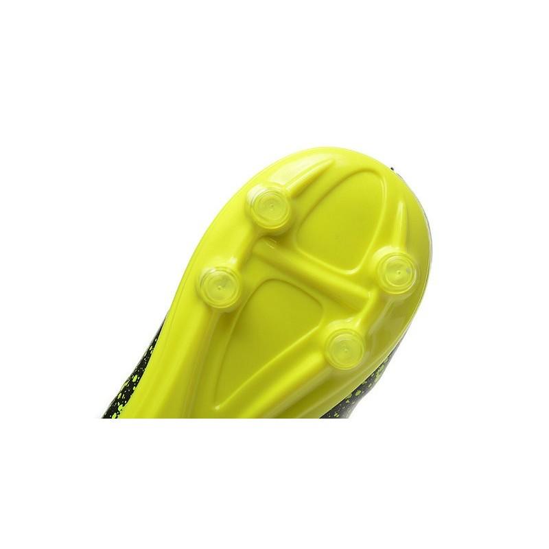 nike shox noir et verte - 2015 Bottes Nike HyperVenom Phantom II FG Football Violet Noir Jaune