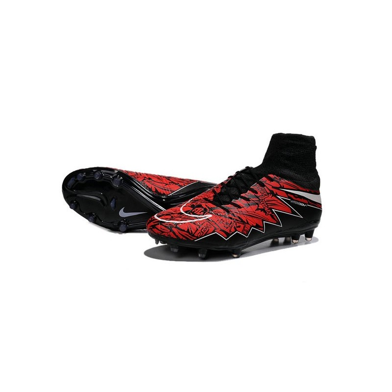 nike hypervenom phantom ii fg football crampons lewandowski blanc rouge noir. Black Bedroom Furniture Sets. Home Design Ideas