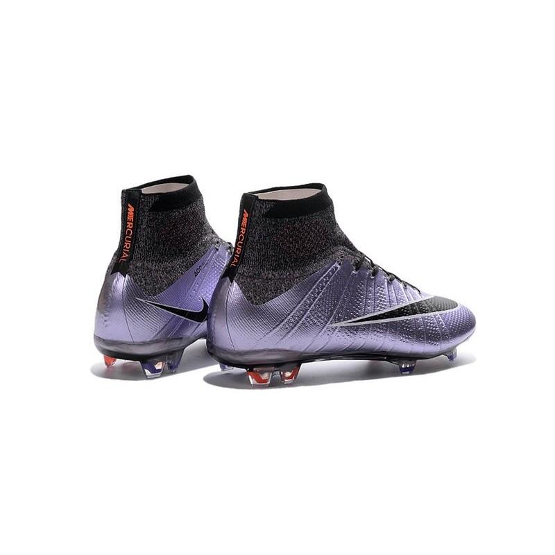 2016 chaussures nike mercurial superfly fg violet noir .