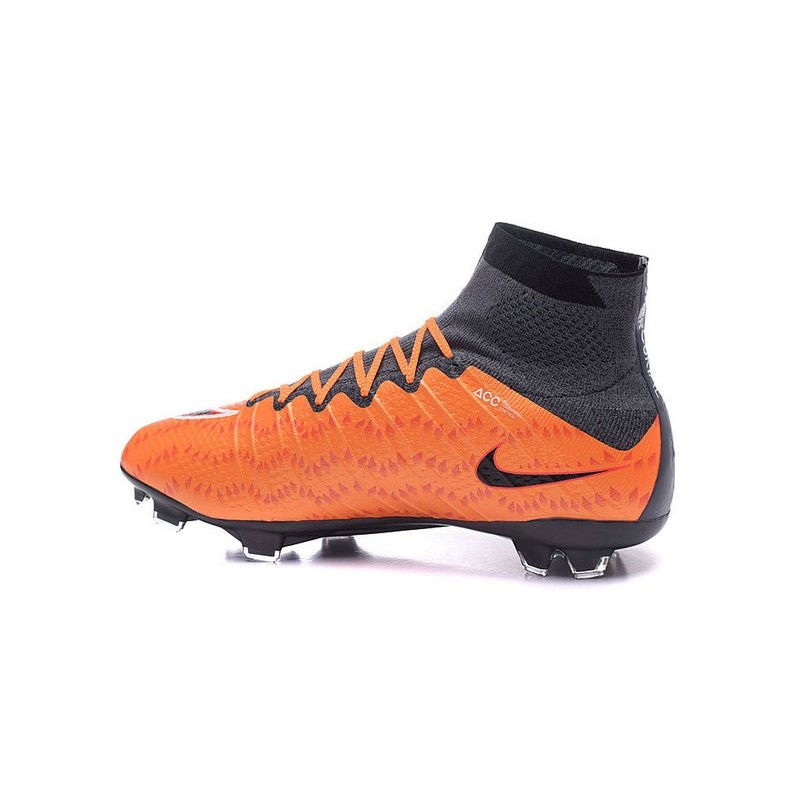 Chaussures de Foot Nike Mercurial Superfly V FG ACC Homme Blanc Noir Orange