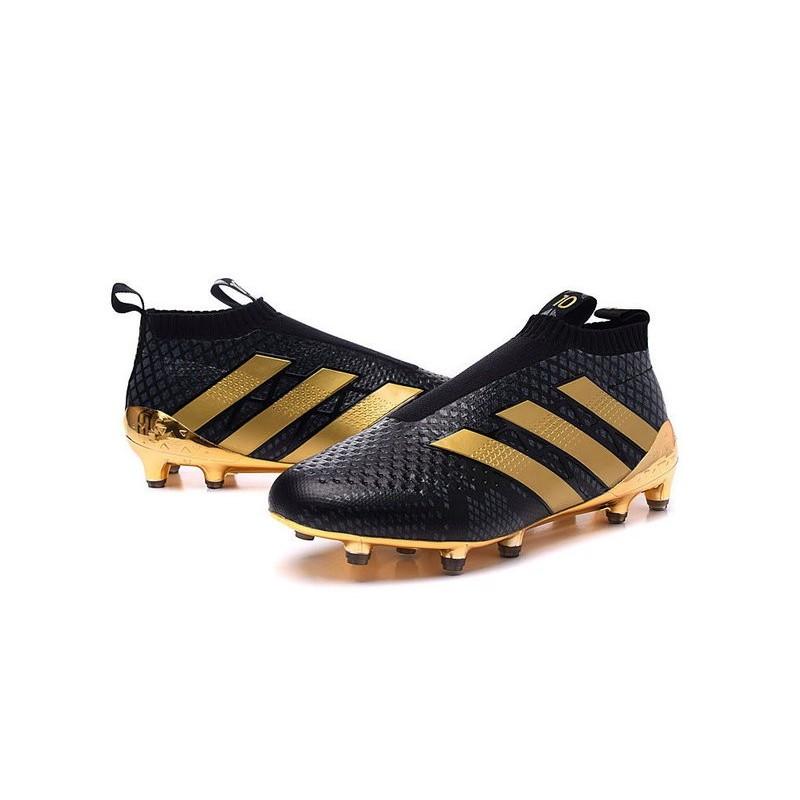 nouveau chaussures de football adidas ace16 purecontrol fg ag paul pogba or noir. Black Bedroom Furniture Sets. Home Design Ideas