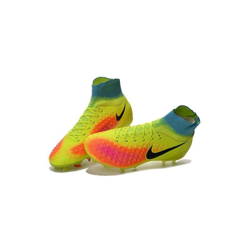 onitsuka tiger bleu - Chaussures de football pour Hommes Nike Magista Obra II FG Volt ...