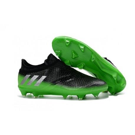 de football adidas messi 16+ pureagility fg/ag homme gris foncé - adidas soccers chaussures argent vert
