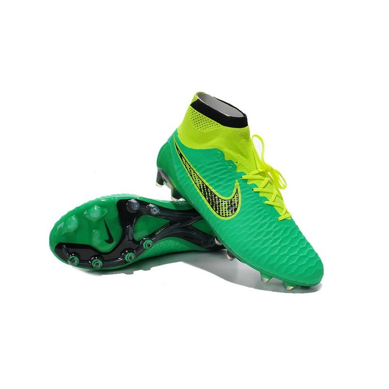 2014 chaussure de football nike magista obra fg vert noir jaune. Black Bedroom Furniture Sets. Home Design Ideas