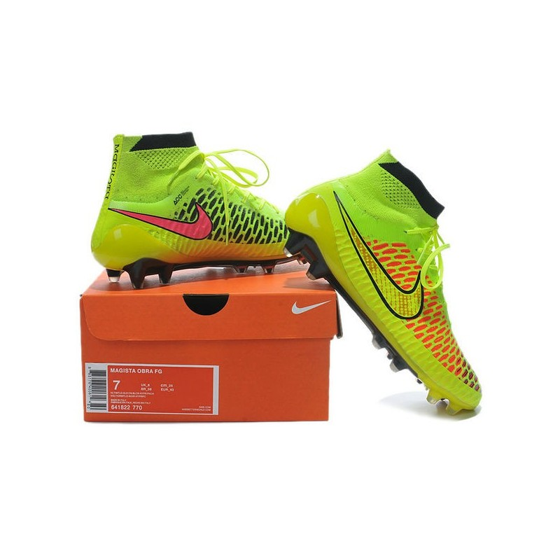 new products 7b88b f8dc6 Nike Magista Obra FG with ACC Hyper Vert Grass Vert Noir Chaussure De Foot  Nike