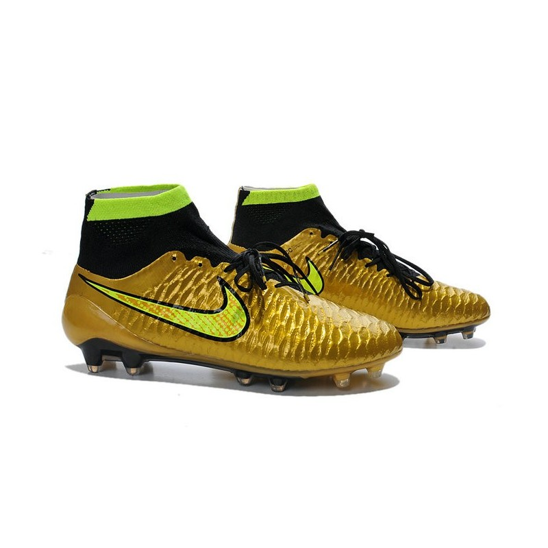 2014 chaussure de football nike magista obra fg or noir volt. Black Bedroom Furniture Sets. Home Design Ideas