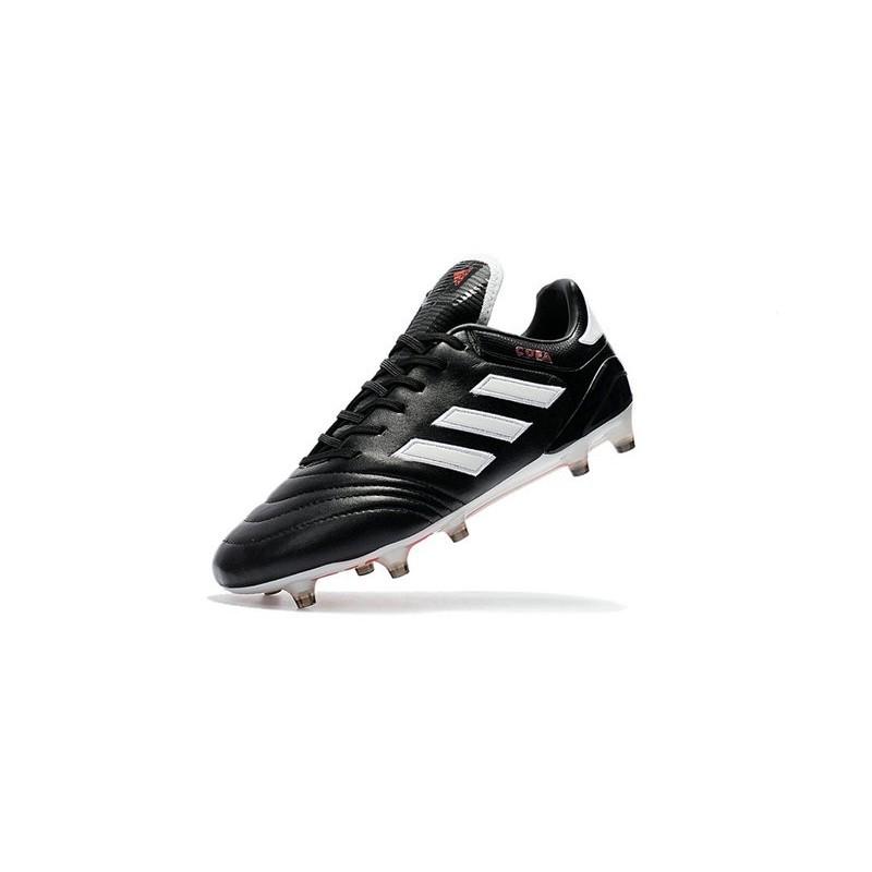 huge selection of bd4bd 31dfe Crampons de Foot adidas Copa 17.1 FG Cuir Noir Blanc Rouge