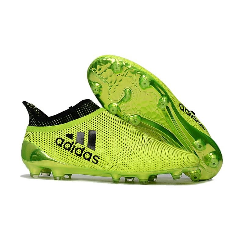 nouvelle crampons de football adidas x 17 purespeed fg vert noir. Black Bedroom Furniture Sets. Home Design Ideas
