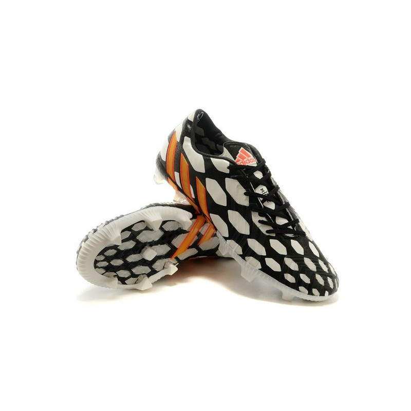 Nouveau Crampons de Football Adidas Battle Pack Predator Instinct FG Noir Blanc Orange