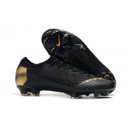 Nouveau Chaussures Football Nike Mercurial Vapor XII Elite FG - Or Noir