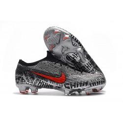 Nouveau Chaussures Football Nike Mercurial Vapor XII Elite FG - Neymar Noir Blanc Rouge