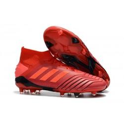 Crampons de Football Adidas Predator 19.1 FG Rouge Solaire Noir