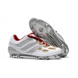 Nouveau Crampons de Foot Adidas Predator Precision FG Gris Or Rouge