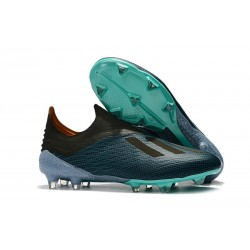 Hommes - Chaussures de Football Adidas X 18+ FG Bleu Noir