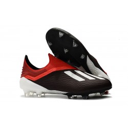 Hommes - Chaussures de Football Adidas X 18+ FG Noir Rouge Blanc