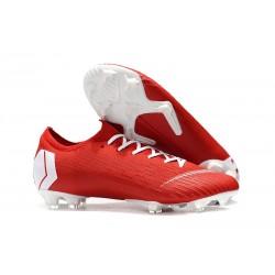 Chaussure de Foot Mercurial 2019 Nike Vapor XII Elite FG - Rouge Blanc