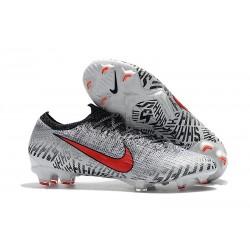 Nike Chaussure de Foot Mercurial Vapor XII Elite FG Neymar - Blanc Rouge Noir