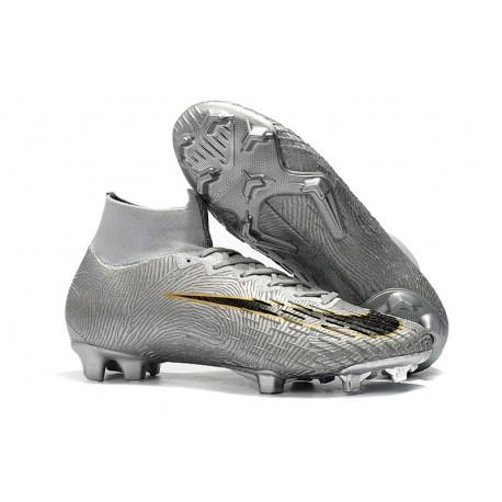 Nike Chaussures football Mercurial Superfly VI 360 Elite FG Argent Noir