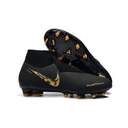 Crampons Nouvelles Nike Phantom Vision Elite DF FG Black Lux