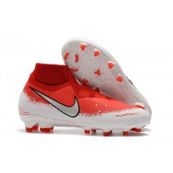 Crampons Nouvelles Nike Phantom Vision Elite DF FG Fully Charged Rouge