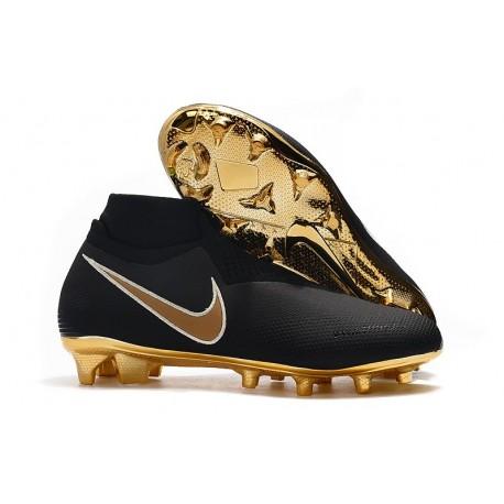 Crampons Nouvelles Nike Phantom Vision Elite DF FG Noir Or