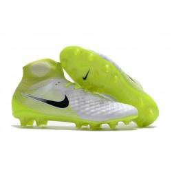 Chaussures de football pour Hommes Nike Magista Obra II FG Blanc Jaune