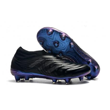 Adidas Copa 19+ FG Chaussures Pour Hommes Noir Bleu