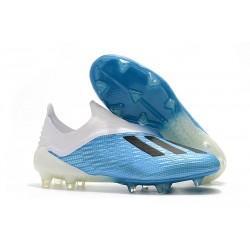 Hommes - Chaussures de Football Adidas X 18+ FG Bleu Blanc Noir
