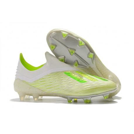 Adidas Chaussures de Football X 18+ FG - Blanc Vert