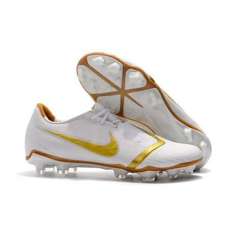 Nike Phantom Venom Elite FG Chaussures - Blanc Or