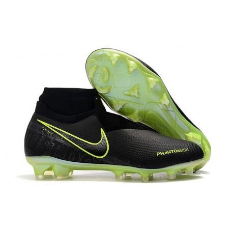Crampons Nouvelles Nike Phantom Vision Elite DF FG Noir Volt