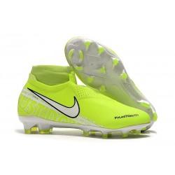 Crampons Nouvelles Nike Phantom Vision Elite DF FG Volt Blanc