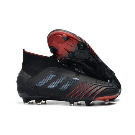adidas Predator 19+ FG Nouvel Chaussure Noir Rouge