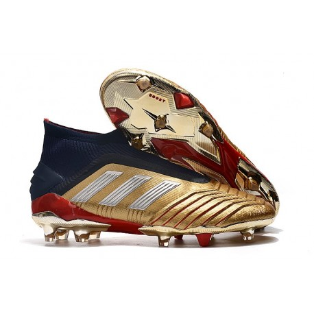 adidas Predator 19+ FG Nouvel Chaussure Or Rouge