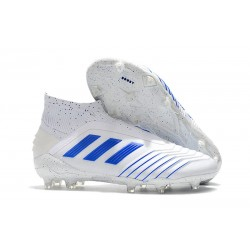 adidas Predator 19+ FG Nouvel Chaussure Blanc Bleu