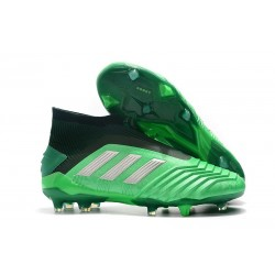adidas Predator 19+ FG Nouvel Chaussure Vert Argent