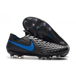 Crampons de Football Nike Tiempo Legend 8 Elite FG Noir Bleu