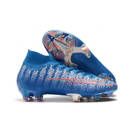 Ronaldo Chaussures Nike Mercurial Superfly VII Elite FG Bleu Shuai
