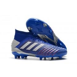 Crampons de Football Adidas Predator 19.1 FG Bleu Argent