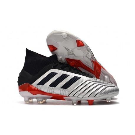 Crampons de Football Adidas Predator 19.1 FG Argent Noir