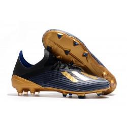 Crampons de Football adidas X 19.1 FG Bleu Or Noir