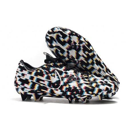 Crampons de Football Nike Tiempo Legend 8 Elite FG Noir Blanc