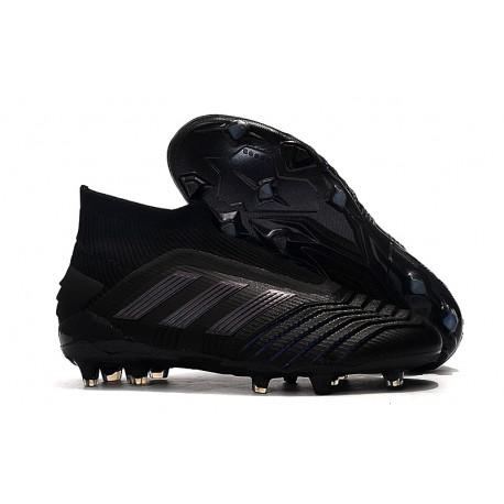 Crampons de Foot adidas Predator 19+ FG Noir