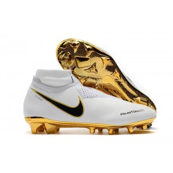 Nike Phantom Vision Elite DF FG - Chaussures de Football Blanc Or