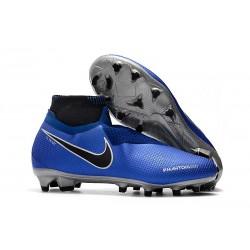 Nike Phantom Vision Elite DF FG - Chaussures de Football Bleu Racer Noir Argent Volt